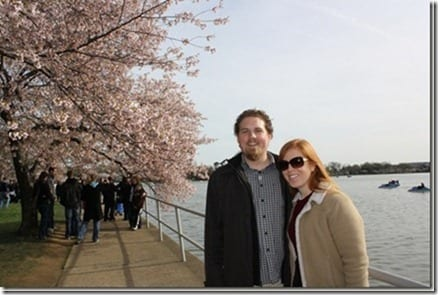 monica and ben cherry blossom