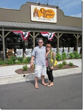 monica and ben at cracker barrel