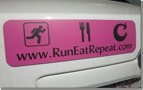 run eat repeat bumper magnet thumb Run Eat Repeat Stickers Giveaway