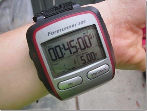 5 miles on garmin