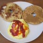 bagel and eggs