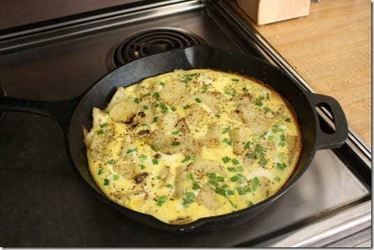 frittata with potato