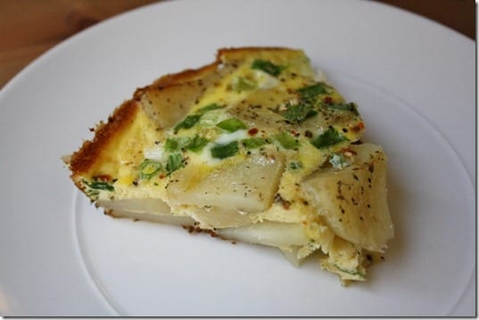 slice of healthy frittata