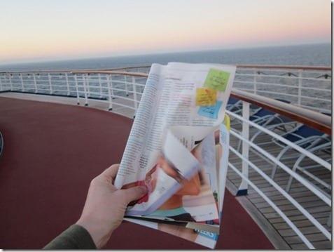 walk with magazine