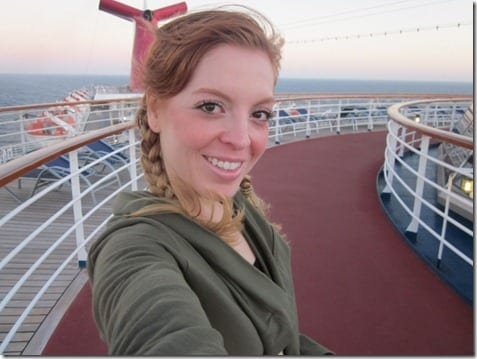 from the top of the cruise ship