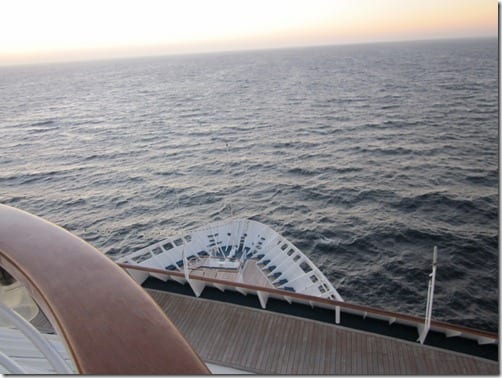 ocean on a cruise ship