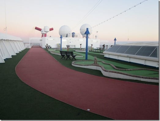 walking track on cruise ship