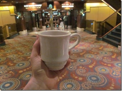 coffee on the cruise