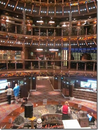 view inside cruise ship center