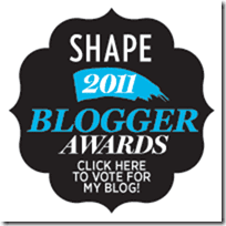 SHAPE magazine Blogger Awards thumb Race Day Check List