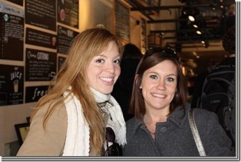 monica and chandra in boston bloggin