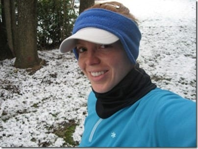 monica in snow