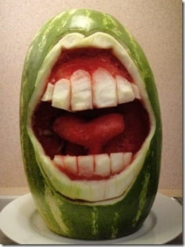 watermelon mouth thumb Triple Tangent Tuesday–I'm a Goner