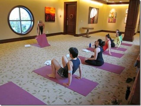 yoga in the art studio