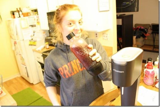 creepy girl with soda stream