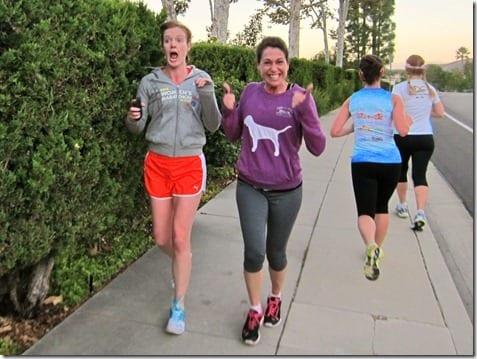 girls running in westlake
