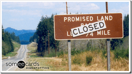 promised land sign