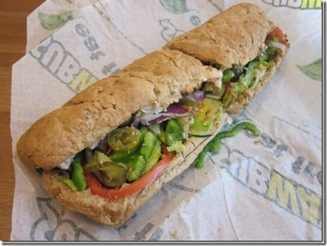 subway sandwich thumb1 Pile on the Miles Week 2 Winners