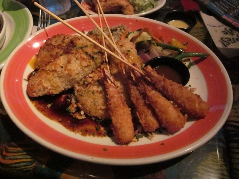 ordered the macadamia nut crusted tilapia with coconut shrimp. I'm ...