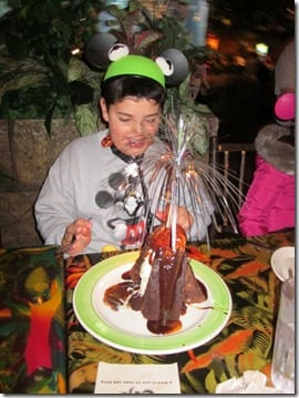 rainforest cafe volcano cake