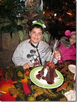 volcano cake