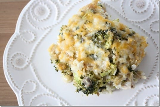 cheesy rice casserole recipe