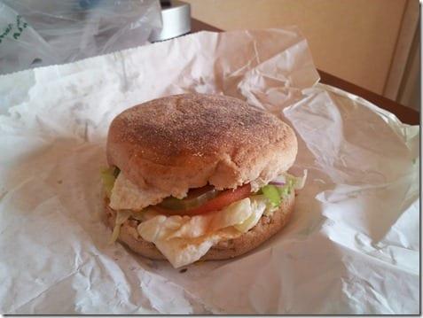 subway egg sandwich