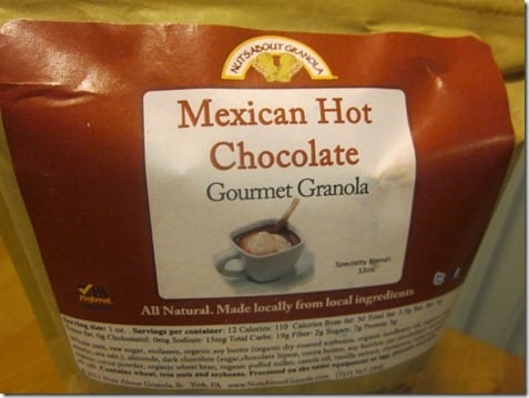 mexican hot chocolate granola