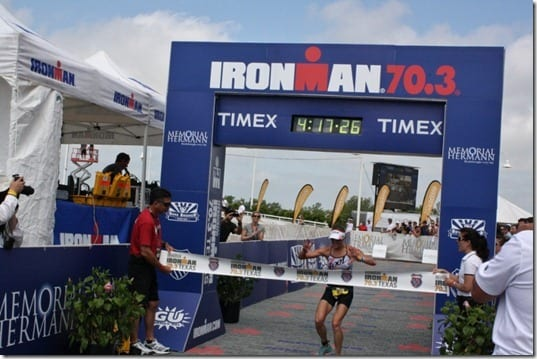 katie wins ironman texas 703