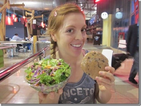 a salad and a cookie