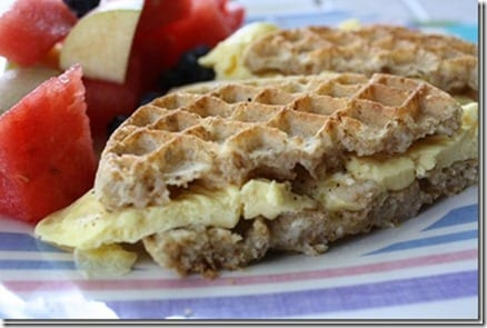 waffle sandwich thumb How to Make An Egg Patty Video
