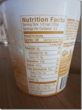 frozen yogurt calories