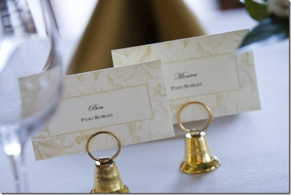 table place cards wedding
