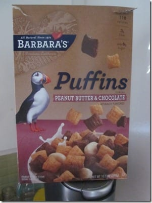 pb and chocolate puffins