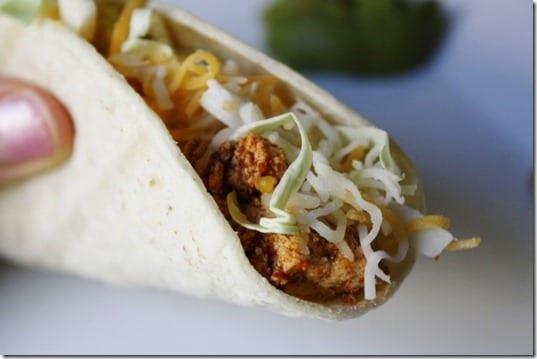two ingredient tofu tacos