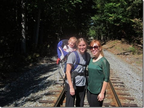 hike on tracks