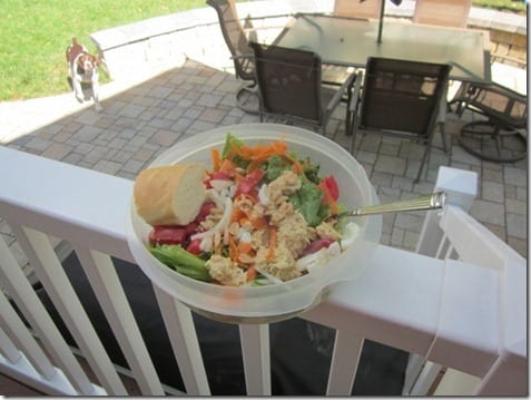 salad outside