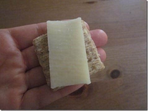 cheese on a triscuit