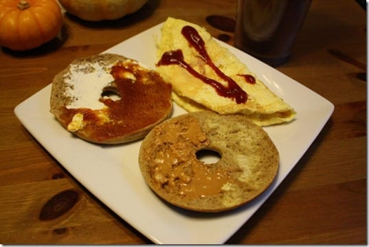pumpkin spice bagel thins breakfast
