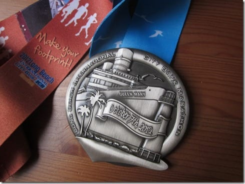 long beach marathon medal