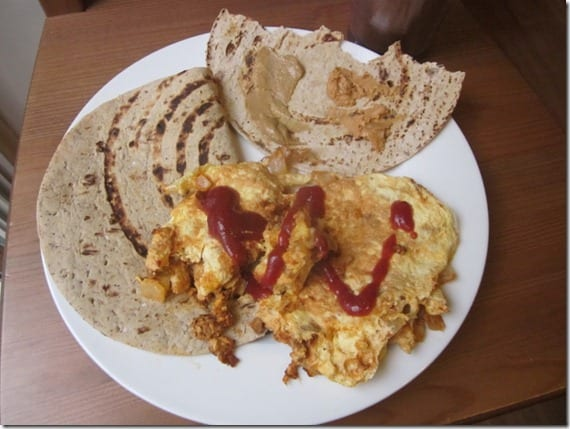 soy chorizo and eggs