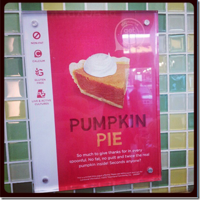 pumpkin pie fro yo