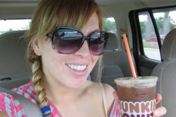 Monica Runs On Dunkin Donuts
