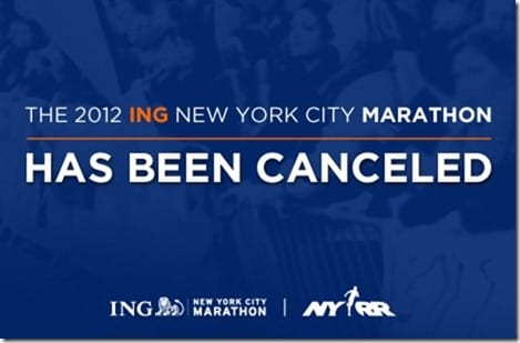 canceled new york city marathon thumb The New York City Marathon is Cancelled