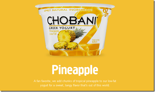 chobani pineapple