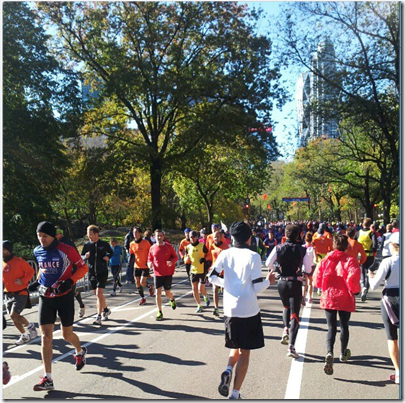 marathon runners in central park