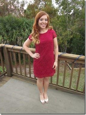 red church dress