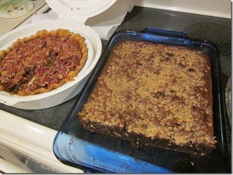 pecan pie and brownies
