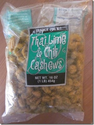 thai lime and chili cashews