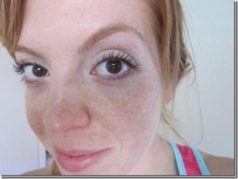 monica has freckles